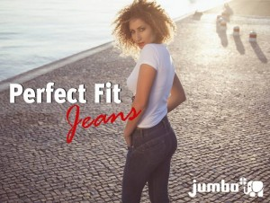 "Calças Jumbo ""Perfect Fit"" - push-up em low cost"