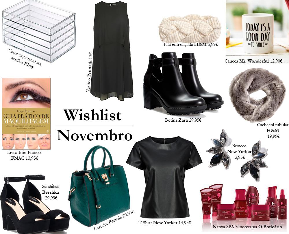 Wishlist Novembro