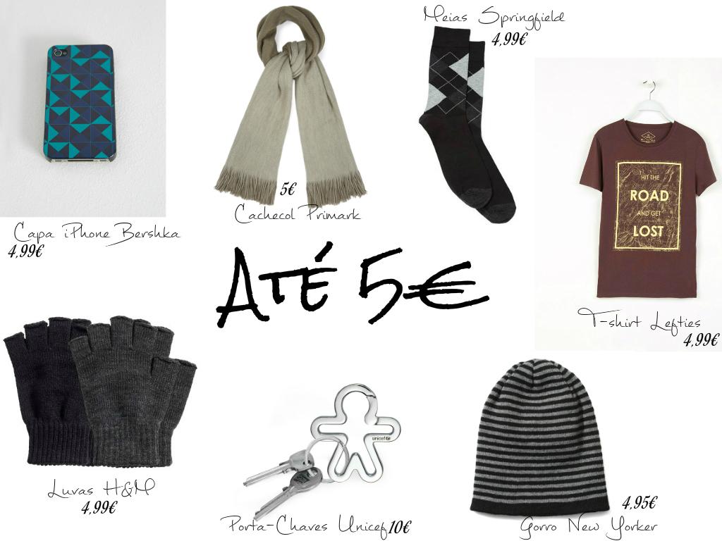 Presentes de Natal até 5€ (para ELE)