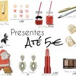 Presentes de Natal até 5€ (para ELA)
