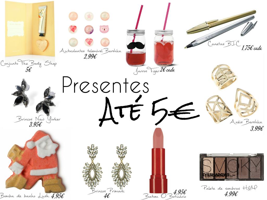 Presentes de Natal até 5€