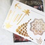 Tatuagens douradas temporárias by Mimi et Fonfon