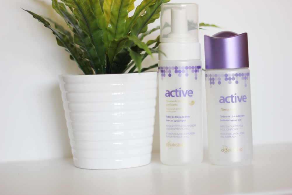 Active Mousse Limpeza Tónico Facial O Boticário