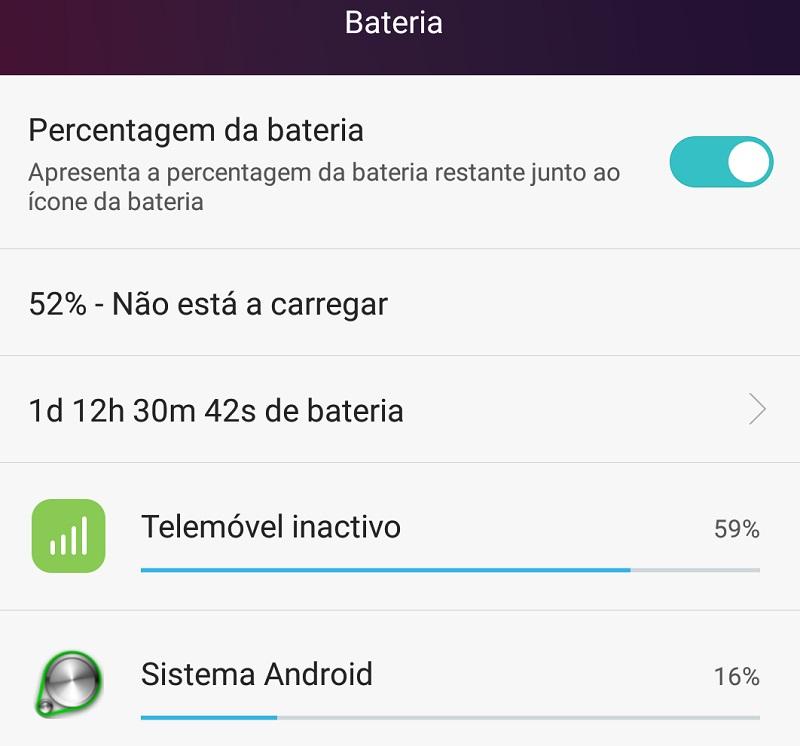 Huawei P8 - Bateria mais duradoura