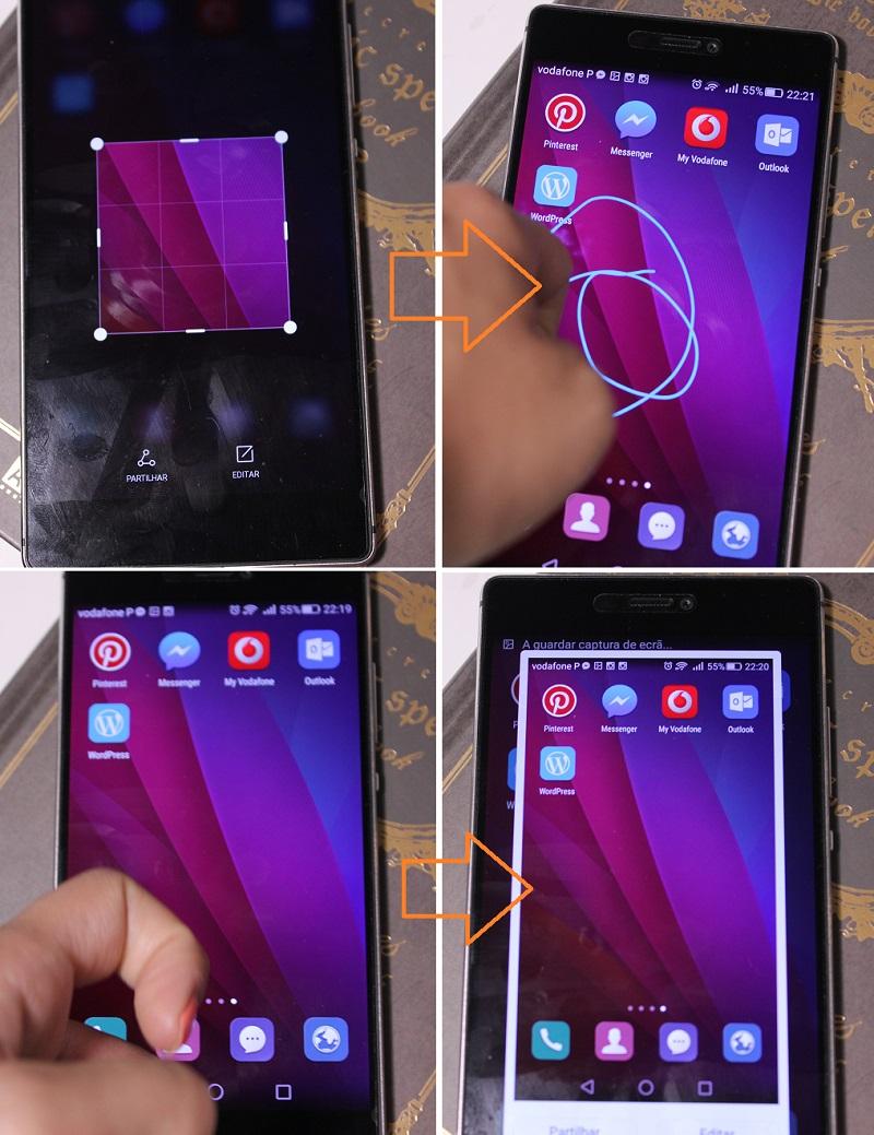 Huawei P8 - Capturar Ecrã