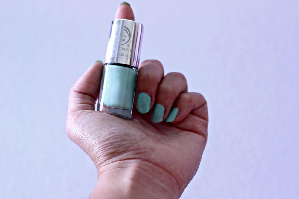 verniz 640 Mint Cream, da The Body Shop