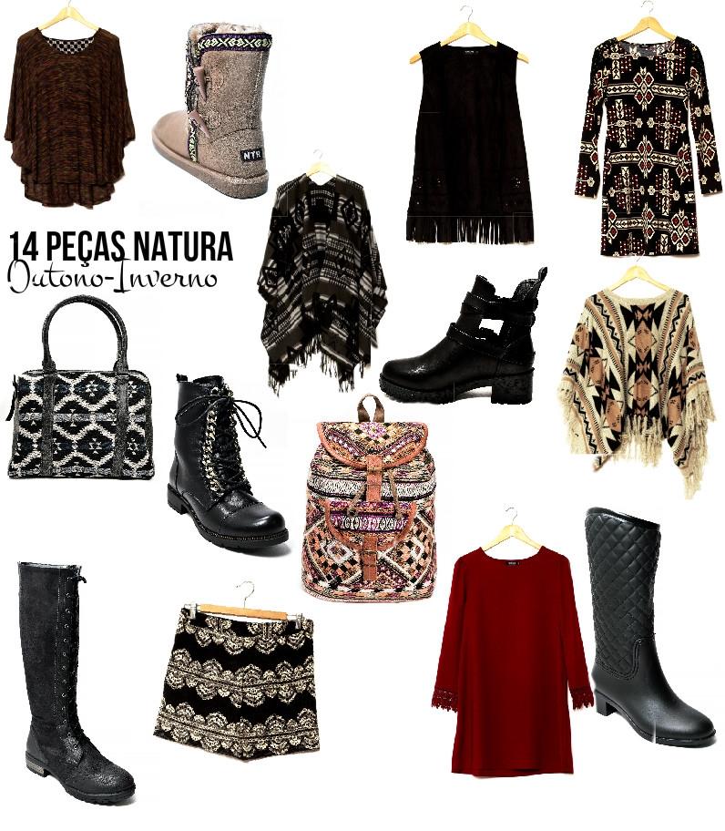 14 peças Natura