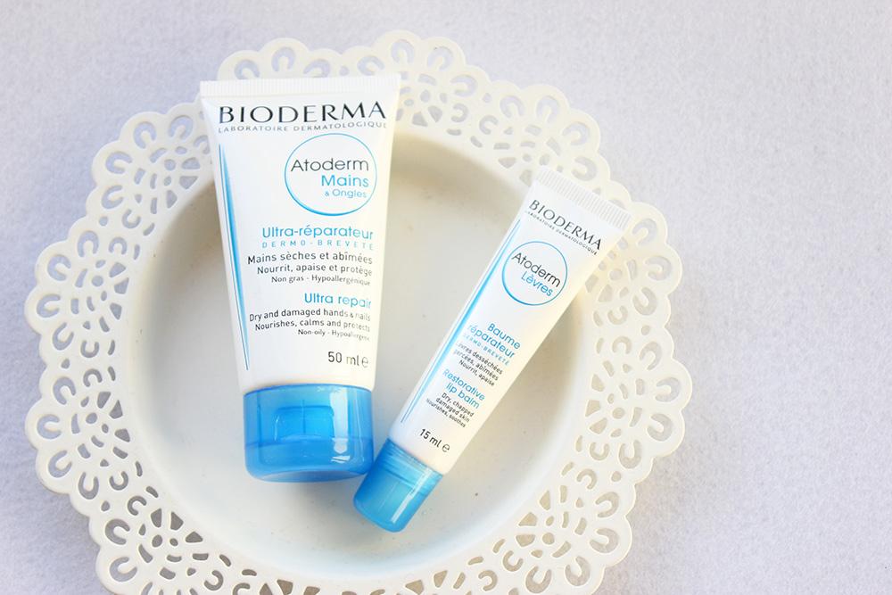 Batom hidratante e creme de mãos Bioderma