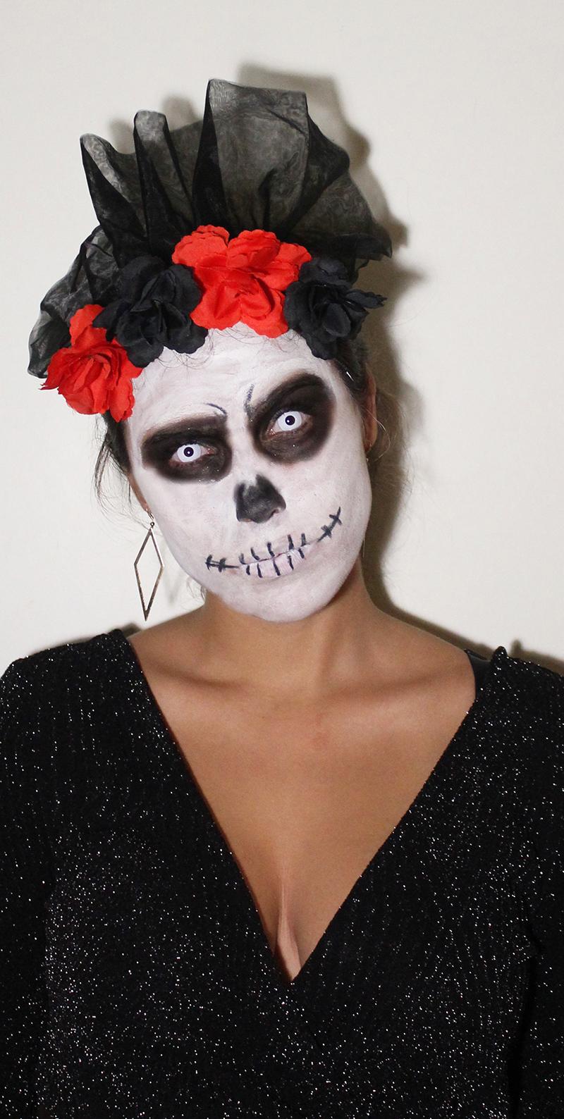 Halloween MakeUp Dia de Los Muertos