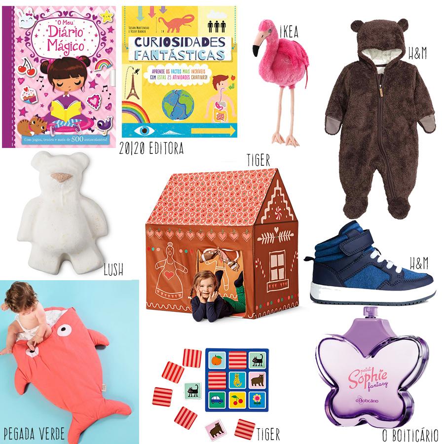 Presentes de Natal para os miúdos