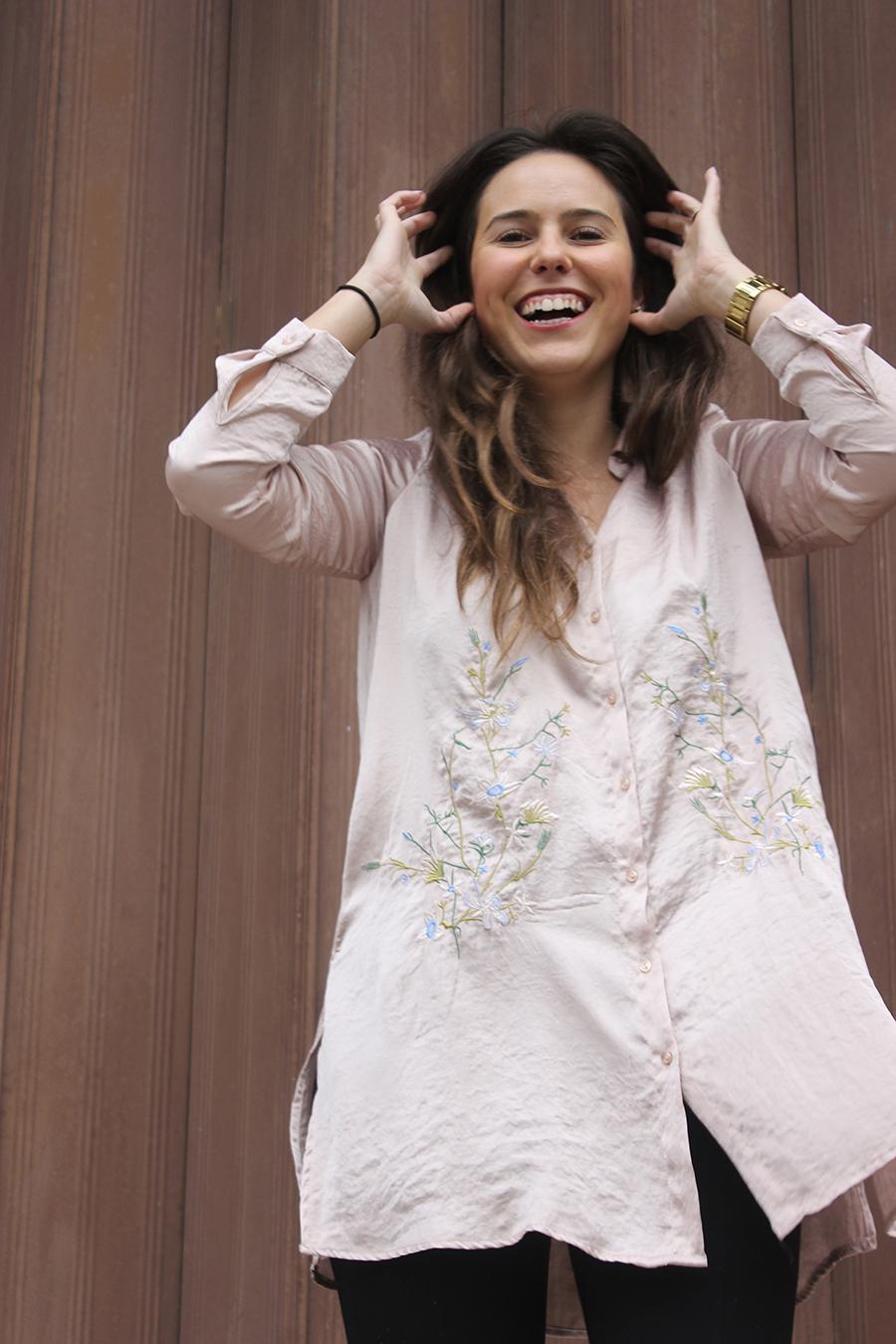 Embroidery Satin Primark shirt