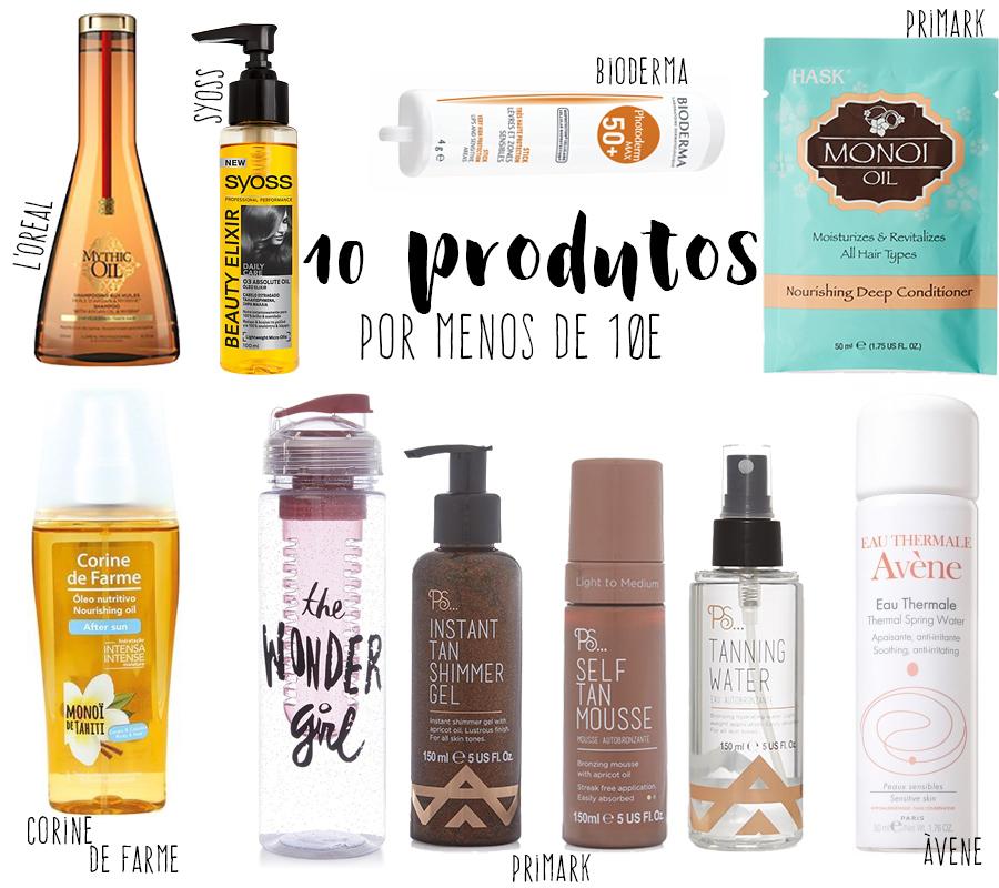 10 produtos por menos de 10 euros