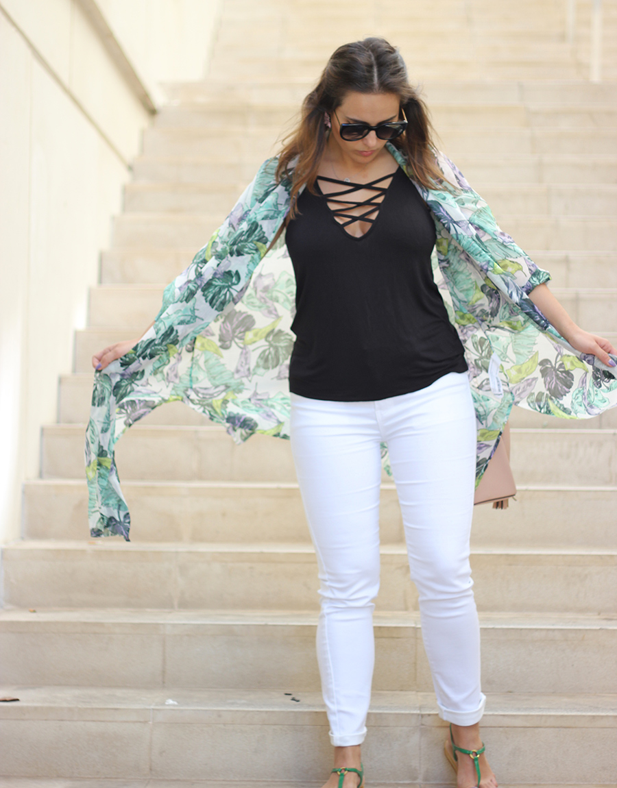 White and Green OOTD