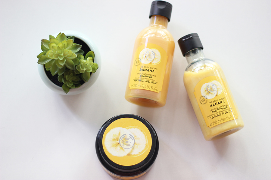 the body shop linha capilar de banana