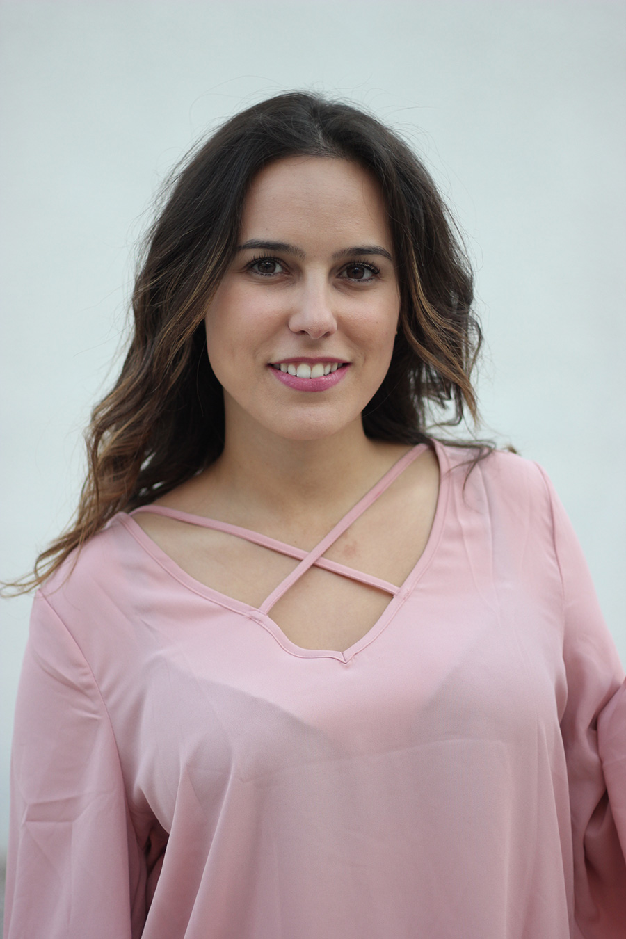 pink blouse outfit