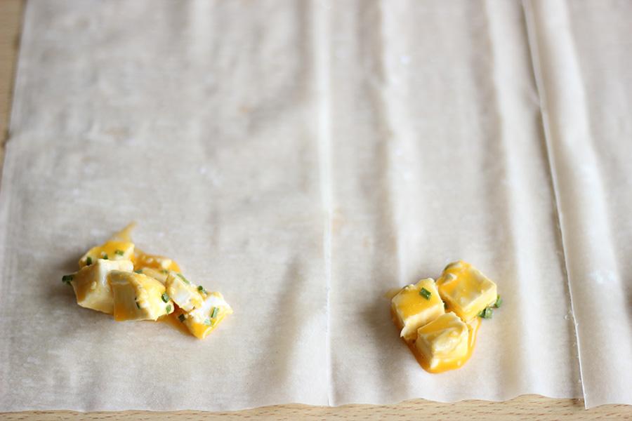 Chamuças de queijo de cabra light Airfryer Philips
