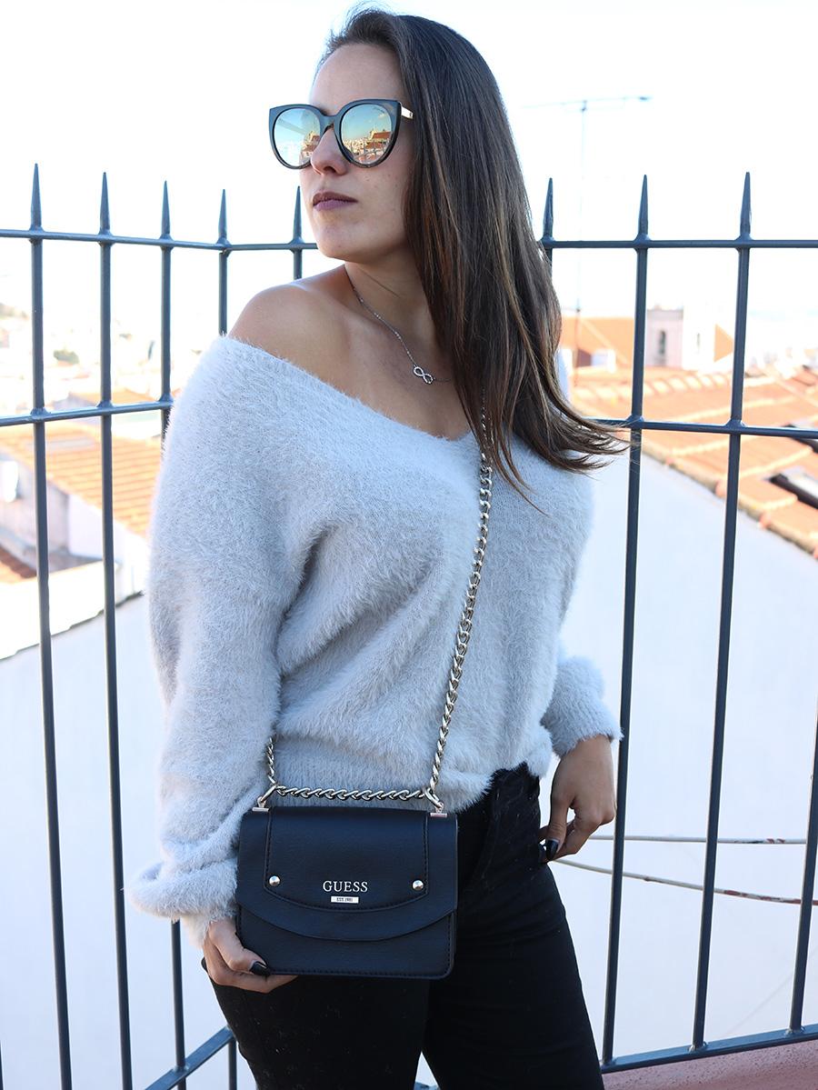 Fluffy grey sweater by Romwe