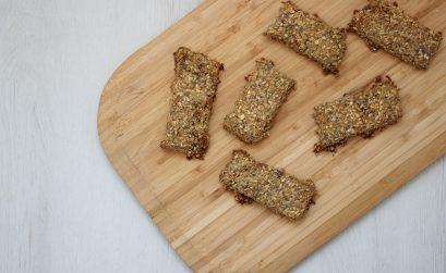 Receita de barras de cereais com proteína na Bimby