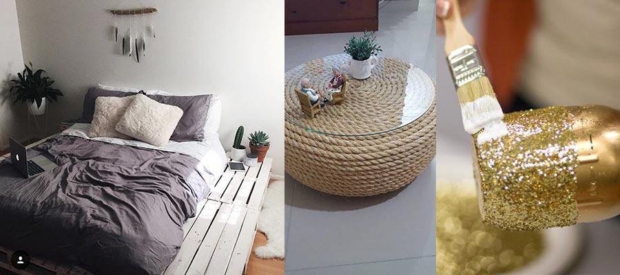 Como poupar dinheiro na decoração da casa - Reciclar e DIY